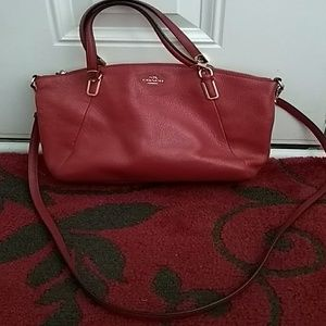 Coach 33736 Red Leather Small Kelsey  Handbag
